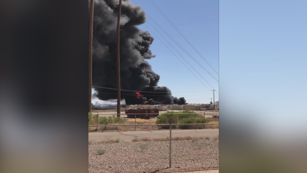 A fire with dangerous smoke broke out at a commercial area in Casa Grande. (Source: Casa Grande Fire Department)