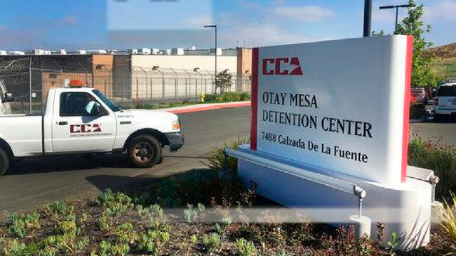 FILE - In this June 9, 2017, file photo, a vehicle drives into the Otay Mesa detention center in San Diego, Calif. (Source: AP Photo/Elliot Spagat, File)