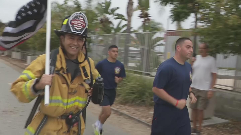 Fireman Joe starting his run. (Source: 3TV/CBS5)