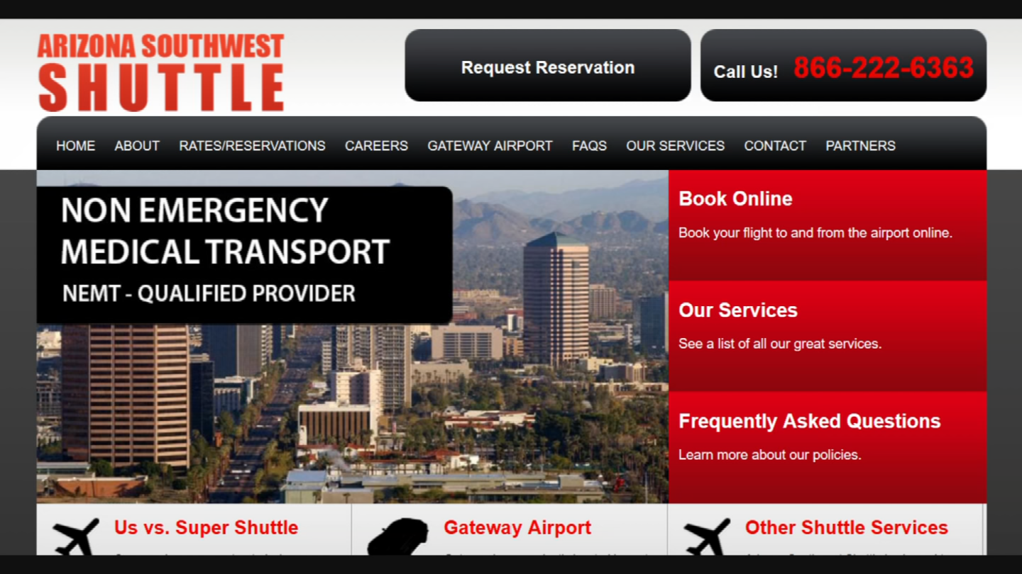 Arizona Southwest Shuttle reportedly tacked on an extra zero making the trip not $36, but $360. (Source: 3TV)