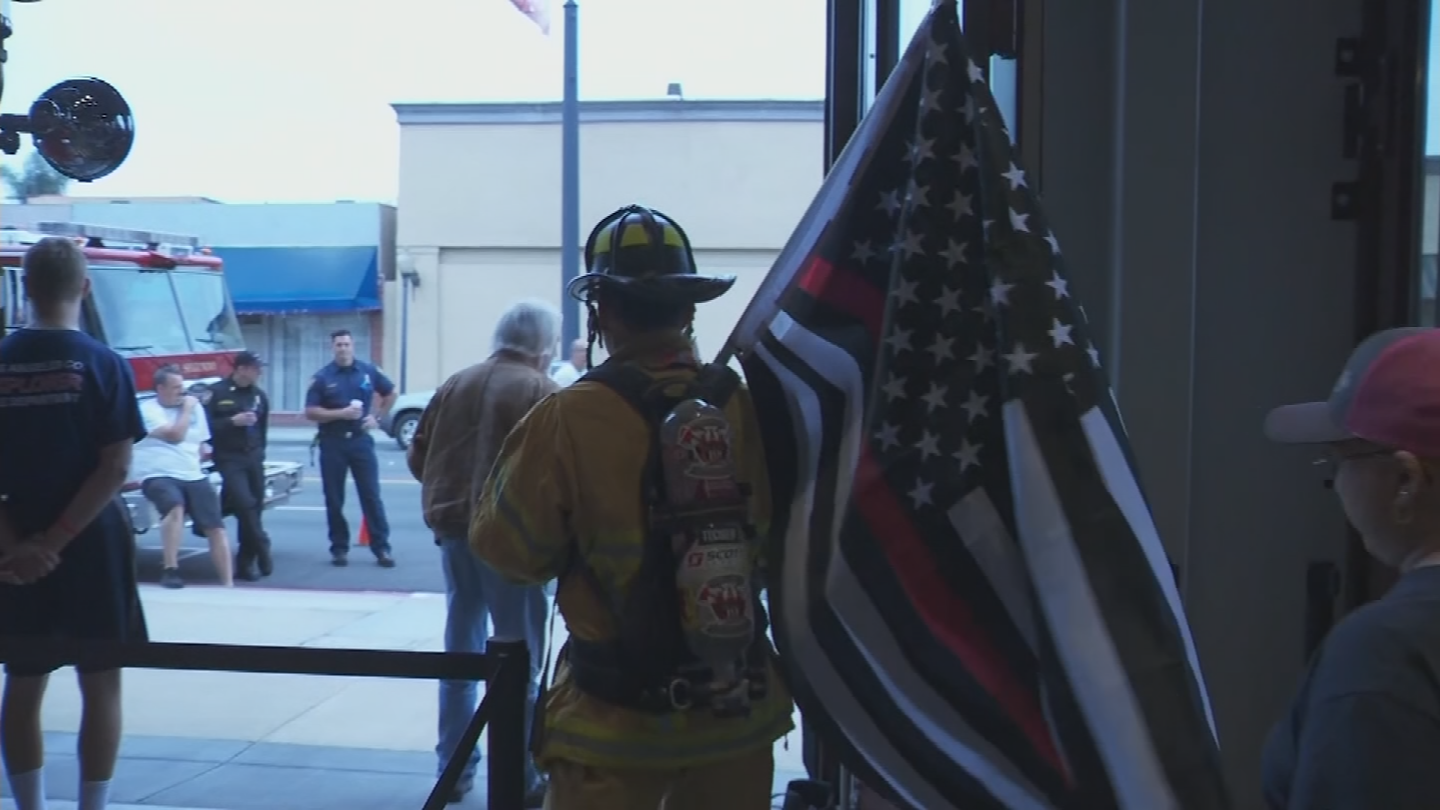 Fireman Joe's run will be about 360-miles. 19 Hotshots who died in the Yarnell Hill Fire. (Source: 3TV/CBS5)