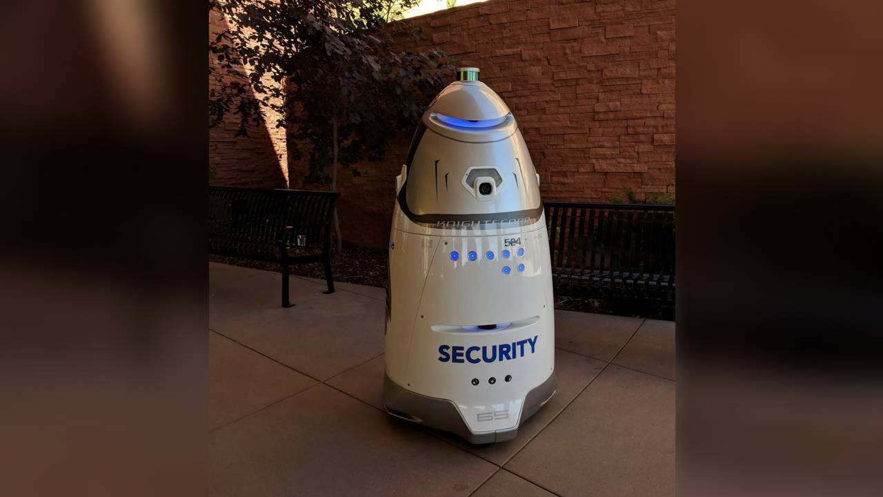 The security robot was unveiled on Wednesday. (Source: The Ferraro Group)