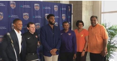 Alan Williams signed his contract with the Suns in March of 2016. (Source: 3TV/CBS 5)