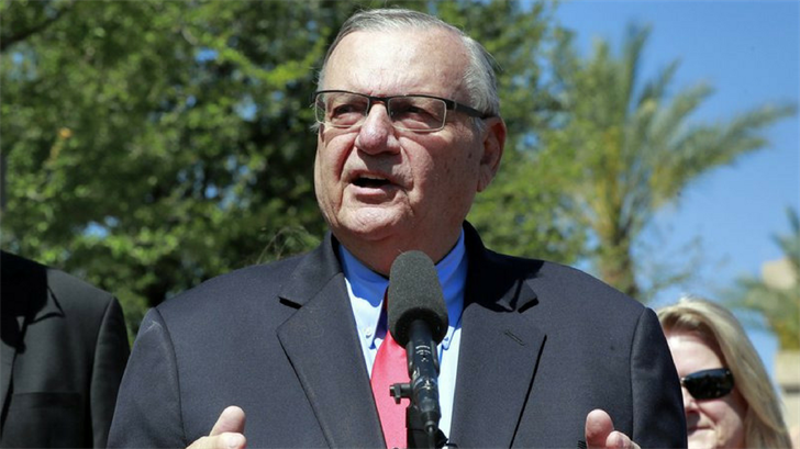 FILE - In this May 22, 2018 file photo, former Maricopa County Sheriff Joe Arpaio speaks during a campaign event in Phoenix. (Source: AP Photo/Matt York, File)
