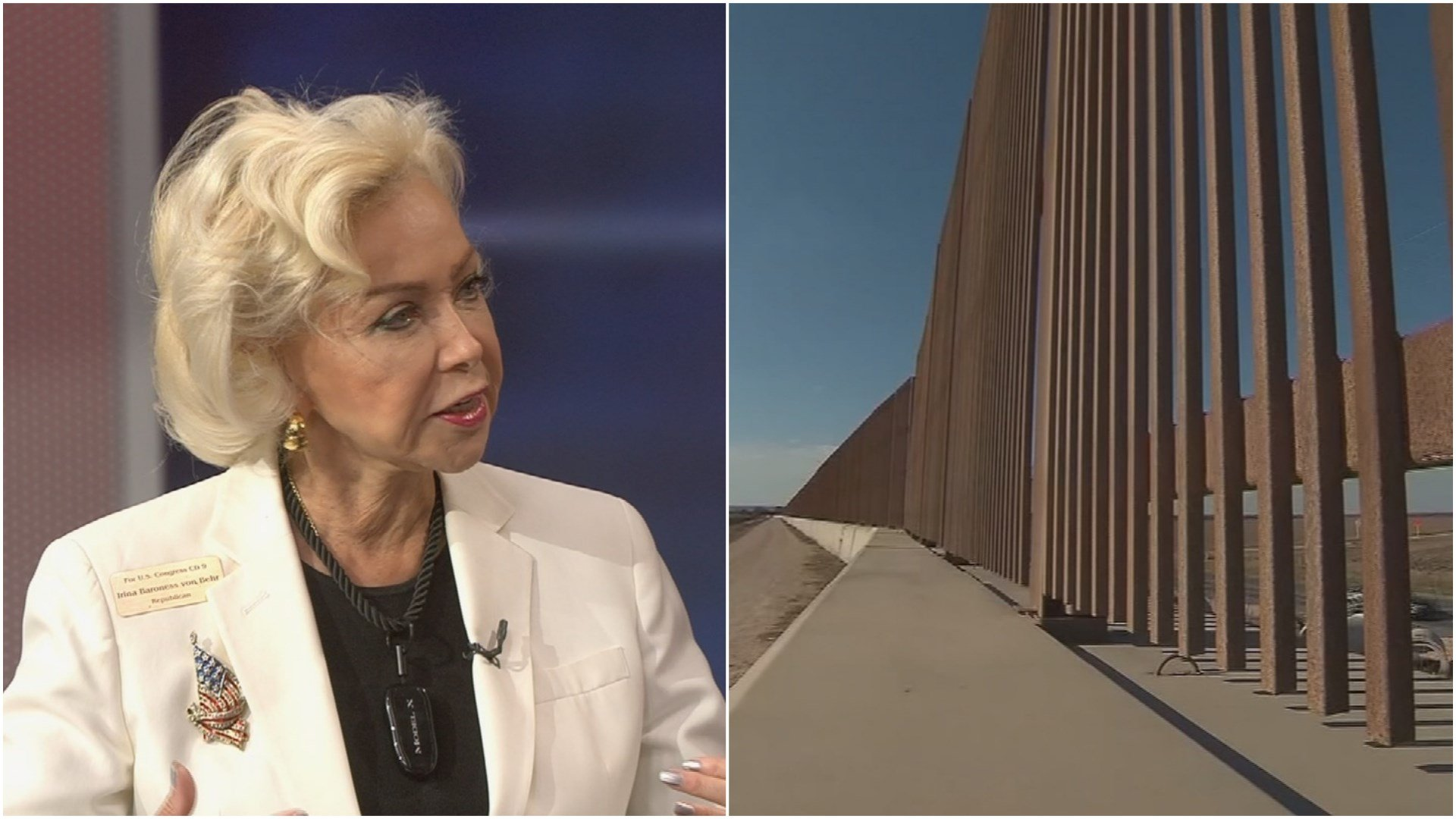 Irina Baroness Von Behr, who is running for the open seat in Arizona's 9th Congressional District, suggests a national lottery to pay for the border wall. (Source: 3TV/CBS 5)