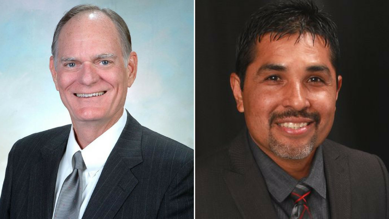 Last year, City councilmen Jamie Aldama, right, and Ian Hugh, left, reported taking gifts in excess of $500 from the tribe.(Source: glendaleaz.com/Twitter)