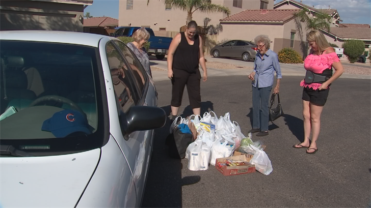 Other strangers brought bags and bags of every grocery Landes needed, and then some. (Source: 3TV/CBS 5)