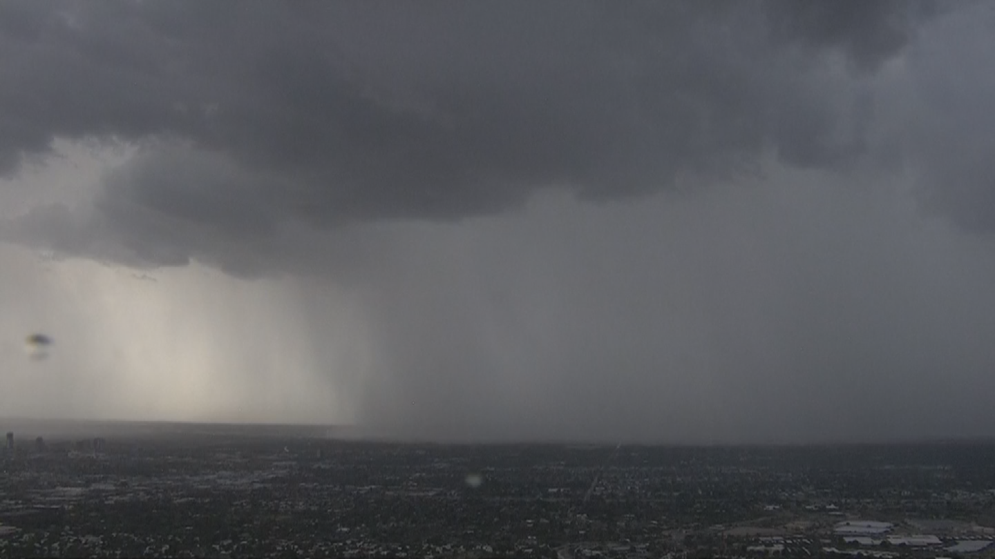 Rain over Glendale. (Source: 3TV/CBS 5)