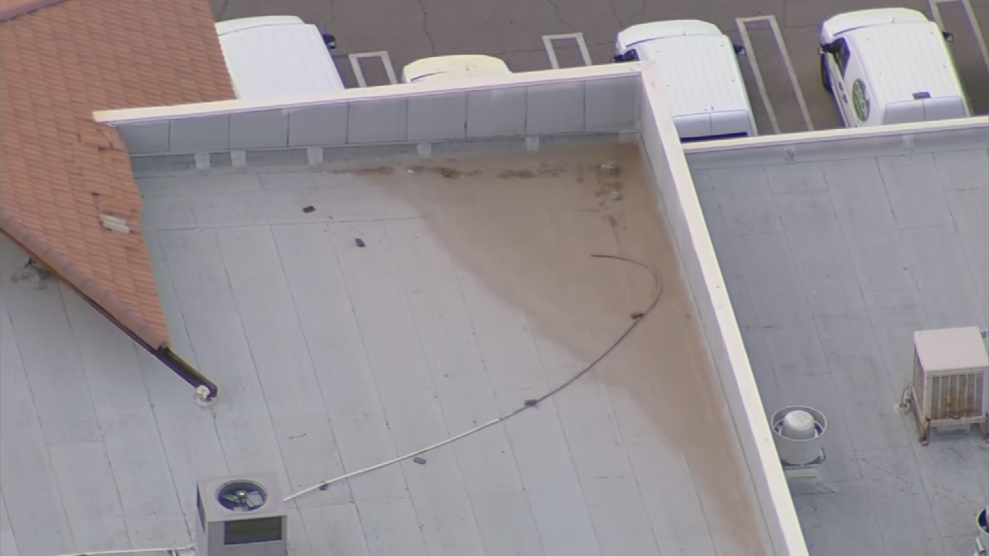 If not maintained, a flat roof could literally buckle beneath the weight of stormwater. (Source: 3TV/CBS 5)