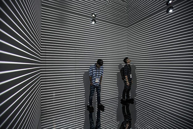 The Infinity Room is an immersive environment and is measured to be 12 ft by 12 ft.(Source: Refik Anadol)