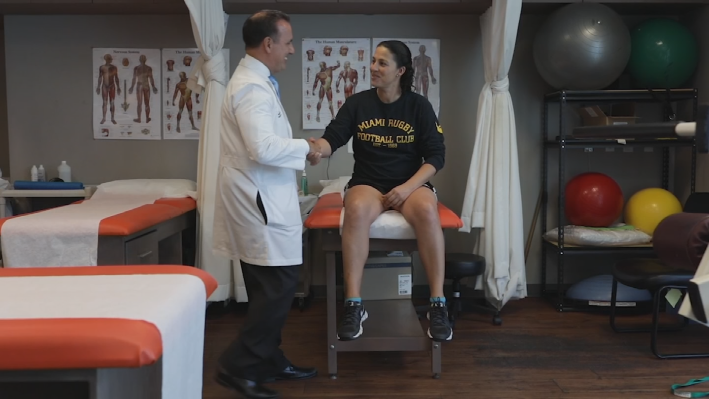 It's therapy time for Michelle Mandoza, a rugby player sidelined because of an injury.   She skipped the traditional E.R. route and went straight to an urgent care, but not just any kind. She went to an orthopedic urgent care facility. (Source: 3TV/CBS 5)