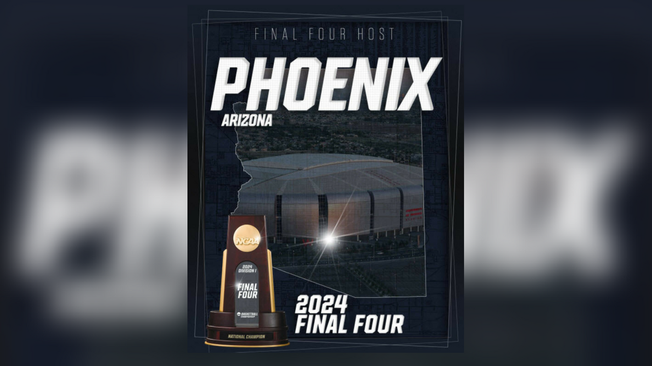 The NCAA announced on Twitter that Phoenix will host the Final Four in 2024. (Source: NCAA Final Four)