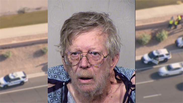 The suspect was booked into jail on two counts of felony endangerment. (Source: 3TV/CBS 5/Maricopa County Sheriff's Office)