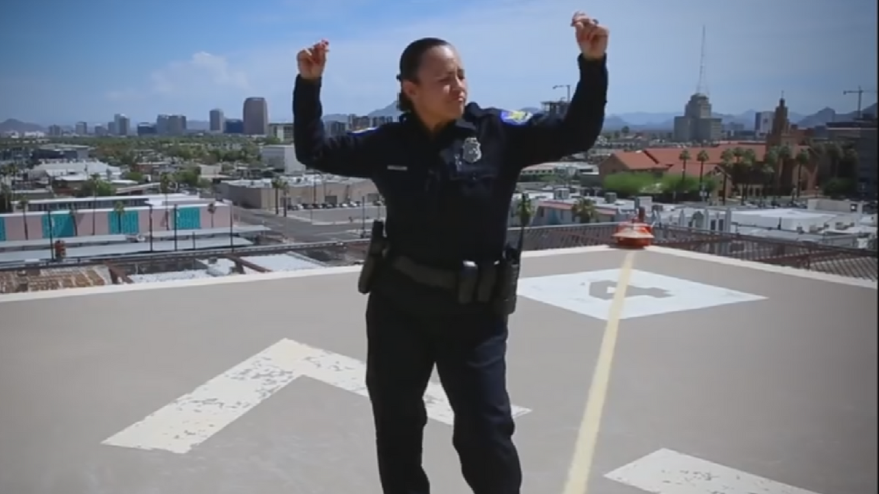 Phoenix PD gets all sections of their department involved in their lip sync video. (Source: Phoenix Police Department)