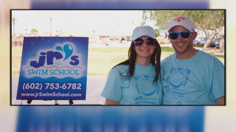 A couple years ago, Cordeiroand her fiance, Ryan Shaefer, created JR's Swim School. Shaefer died in a car crash. (Source: CBS 5)