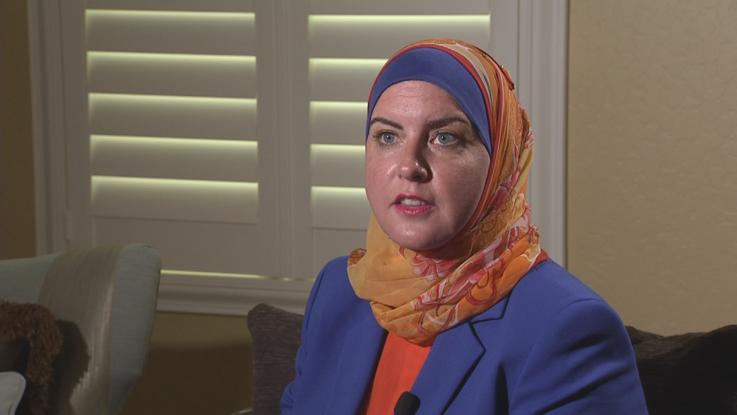 """She cornered me on a street corner as I was exiting the exit and I couldn't get away,"" said Deedra Abboud, a Democratic candidate for U.S. Senate.  (Source: 3TV/CBS 5)"