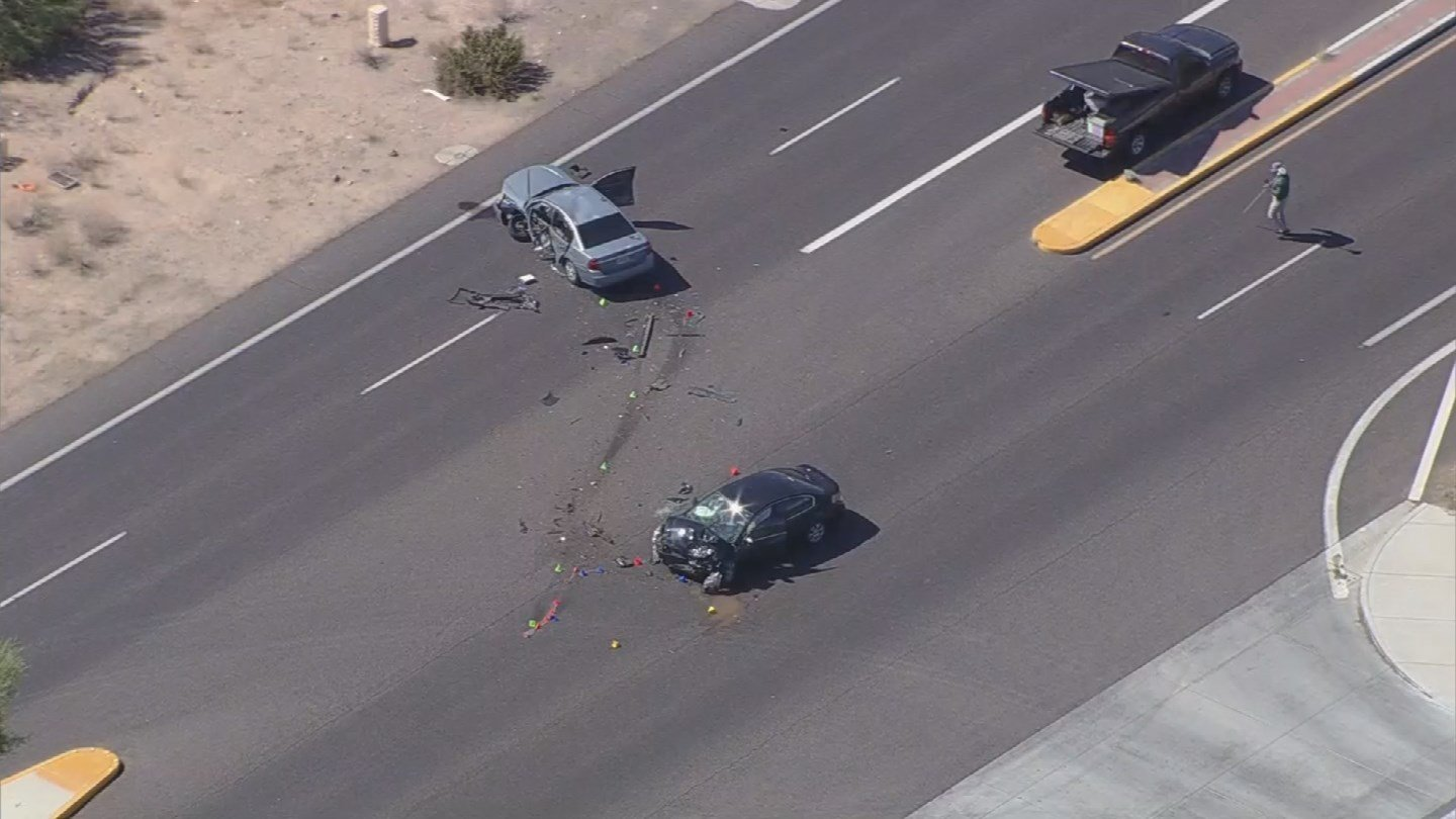 The two car collision happened on Cave Creek Rd. (Source: 3TV/CBS 5 News)
