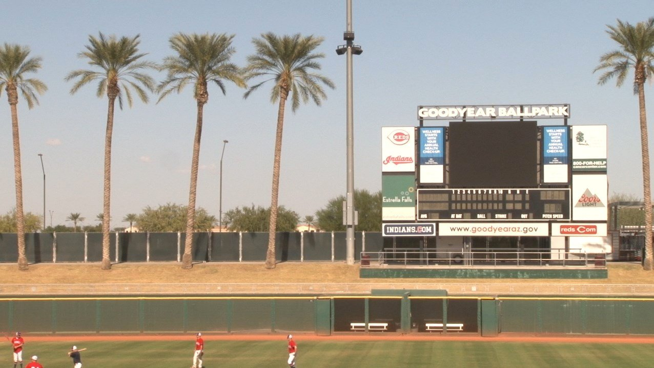 The Cleveland Indians call Goodyear Ballpark home during spring training. (Source: Tamsyn Stonebarger/Cronkite News)