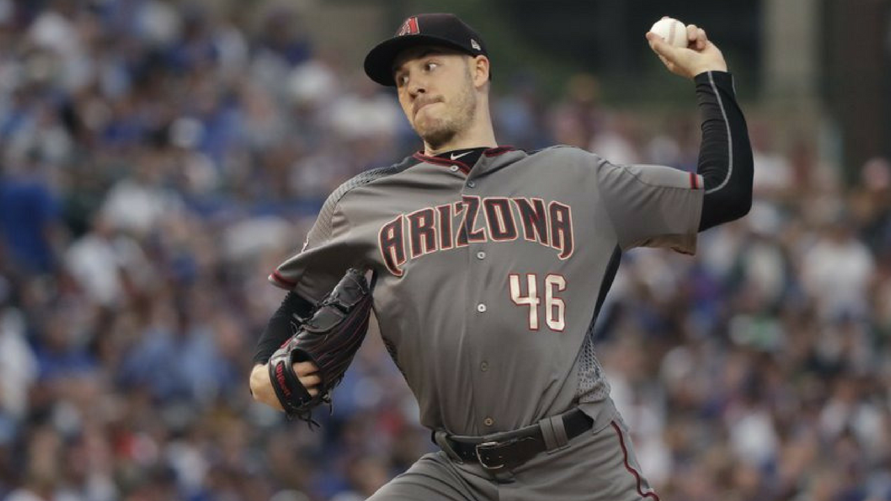 Arizona Diamondbacks starting pitcher Patrick Corbin delivers during the first inning of a baseball game against the Chicago Cubs Monday, July 23, 2018, in Chicago. (Source: AP Photo/Charles Rex Arbogast)