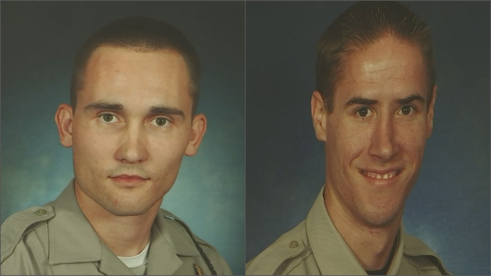 Trooper Dalin Dorris (left) was shot in the shoulder. Trooper Sean Rodecap was injured during the scuffle. (Source: Dept. of Public Safey)