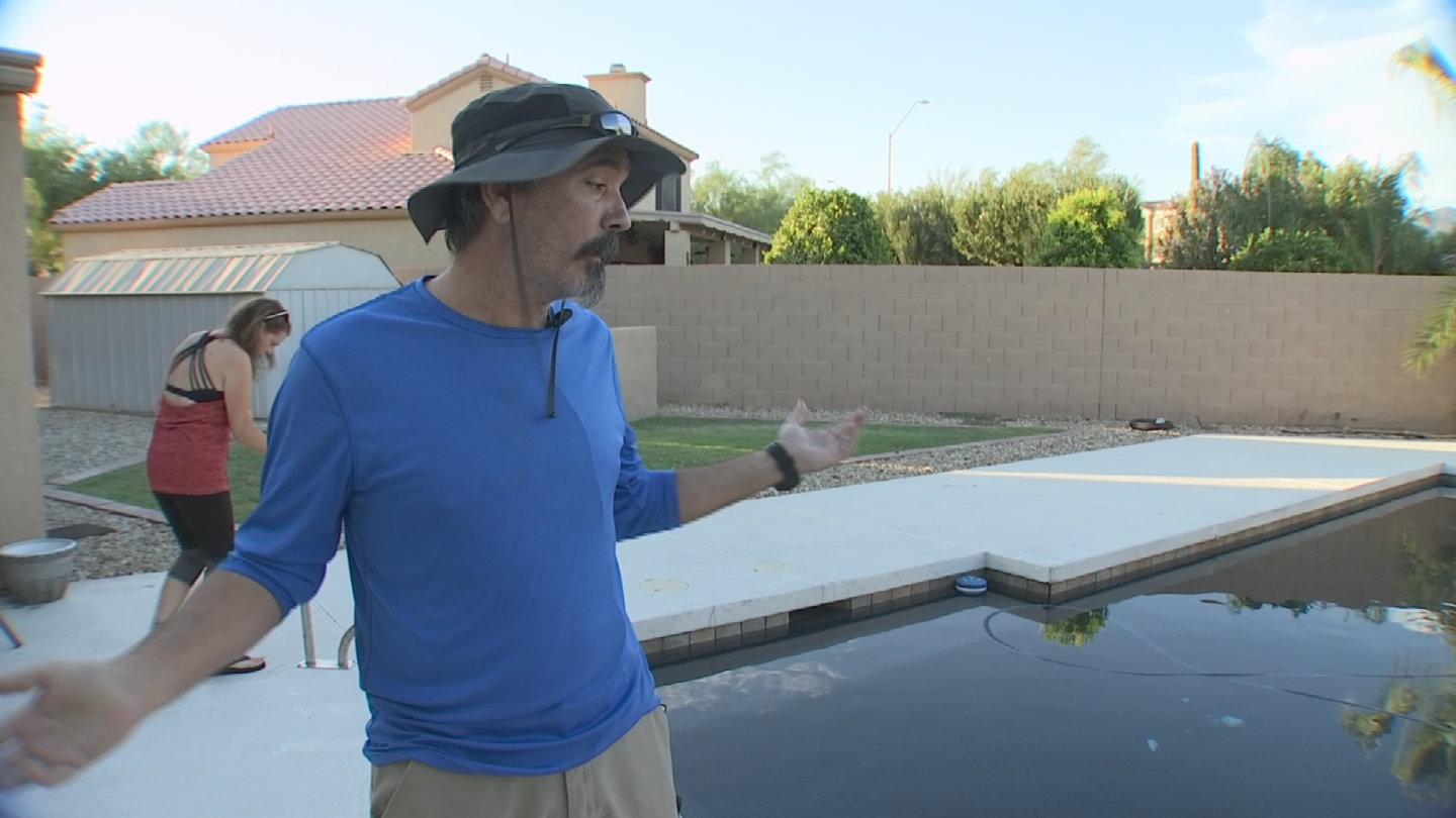 With the help of 3 On Your Side, Carolyn and Terry Howell say their backyard swimming pool is finally done. (Source: 3TV)