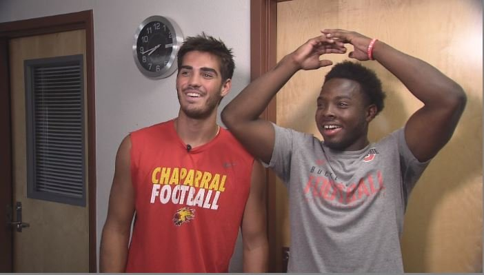 Chaparral's Jack Miller and Darvon Hubbard have committed to play football at Ohio State. (Source: 3TV/CBS 5)