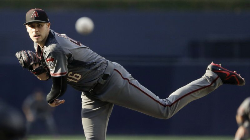 Arizona Diamondbacks starting pitcher Patrick Corbin works against a San Diego Padres batter during the first inning of a baseball game Saturday, July 28, 2018, in San Diego. (Source: AP Photo/Gregory Bull)