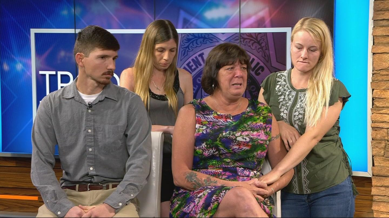 The family of fallen DPS trooper Tyler Edenhofer appear on Good Morning Arizona on July 30, 2018. (Source: 3TV/CBS 5)