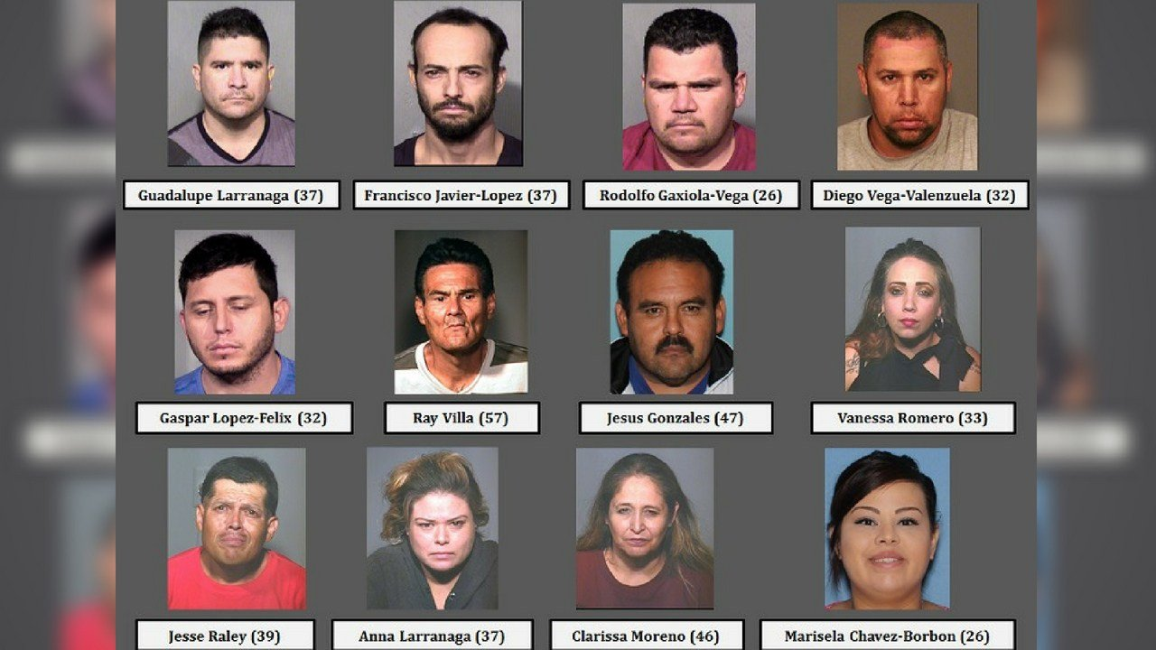 Chandler police arrest twelve people suspected to be involved in a Mexican drug organization. (Source: 3TV/CBS 5 News)