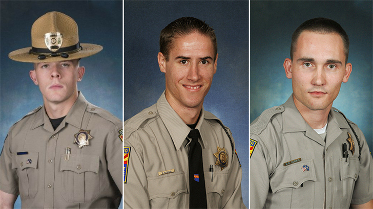 Trooper TylerEdenhofer, right, Trooper Sean Rodecap, middle, and Trooper Dalin Dorris. (Source: DPS)