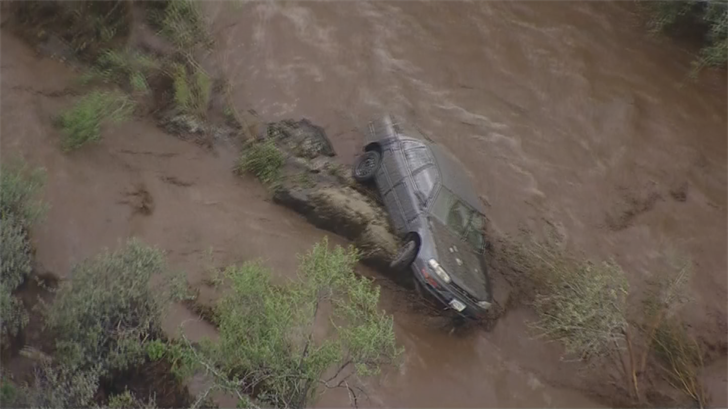 Heavy flooding caused evacuations in Mayer on Thursday. (Source: 3TV/CBS 5)