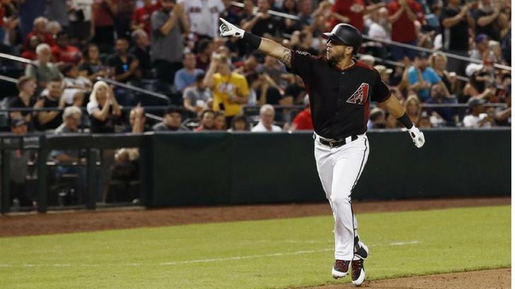 Paul Goldschmidt hit his 200th homerun Friday night. (Source: The Associated Press)