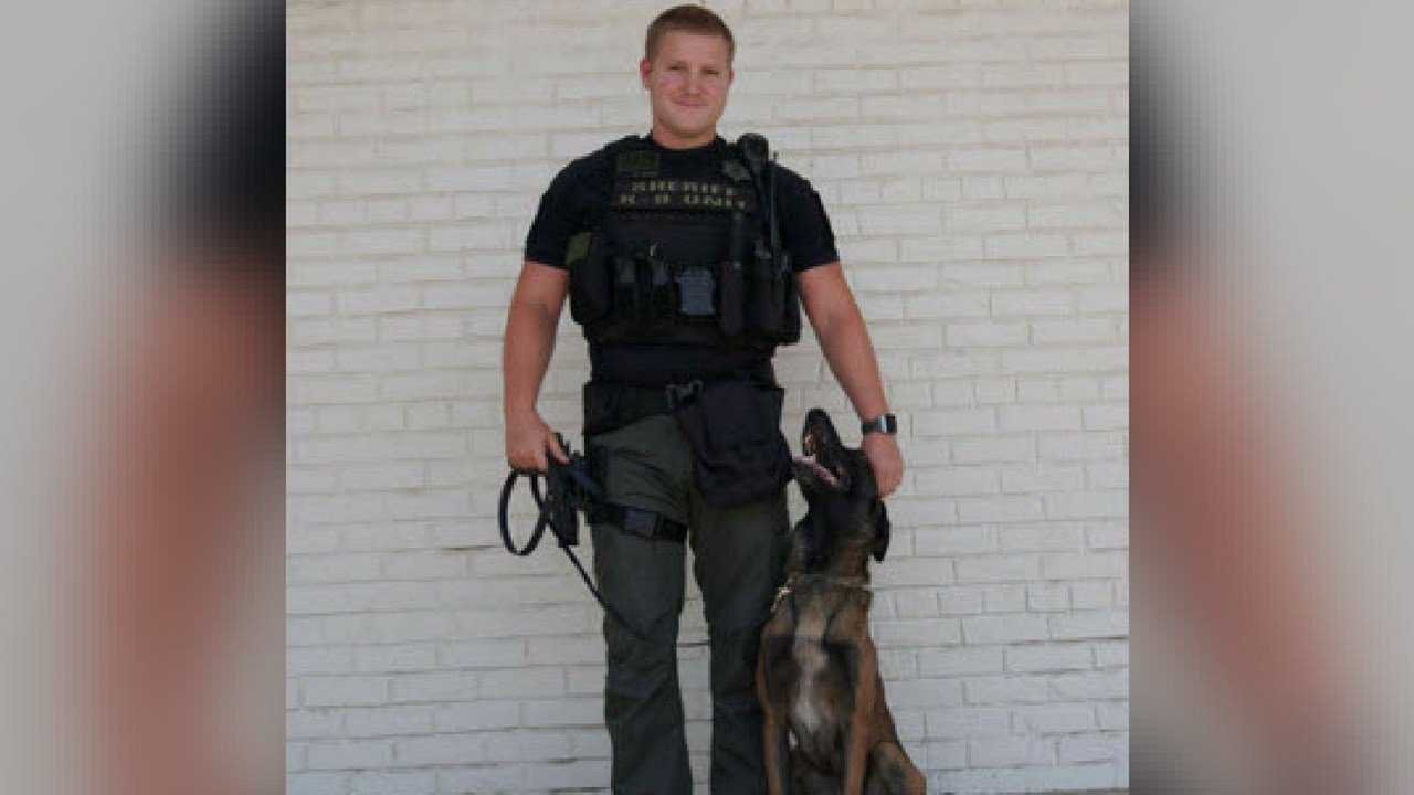 K-9 handler Deputy Rush became part of the unit with an experienced 3-year-old Belgian Malinois as his partner. (Source: MCSO)
