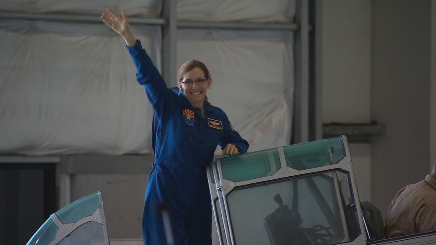 A former fighter pilot, first woman to command a United State Air Force fighter squadron. (Source: 3TV/CBS 5)