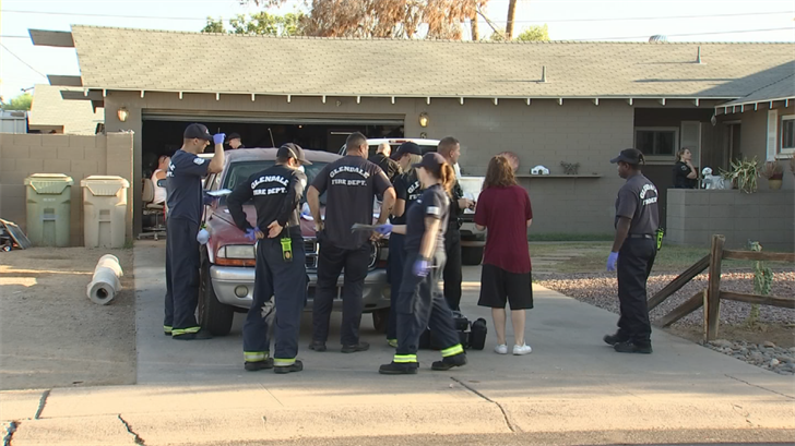 Callers reported three men who were dead in a Glendale home near 59th and Pasadena avenues. (Source: 3TV/CBS 5)