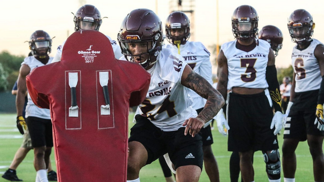 Redshirt sophomore cornerback Chase Lucas during a fall camp practice (Photo: Sun Devil Athletics)