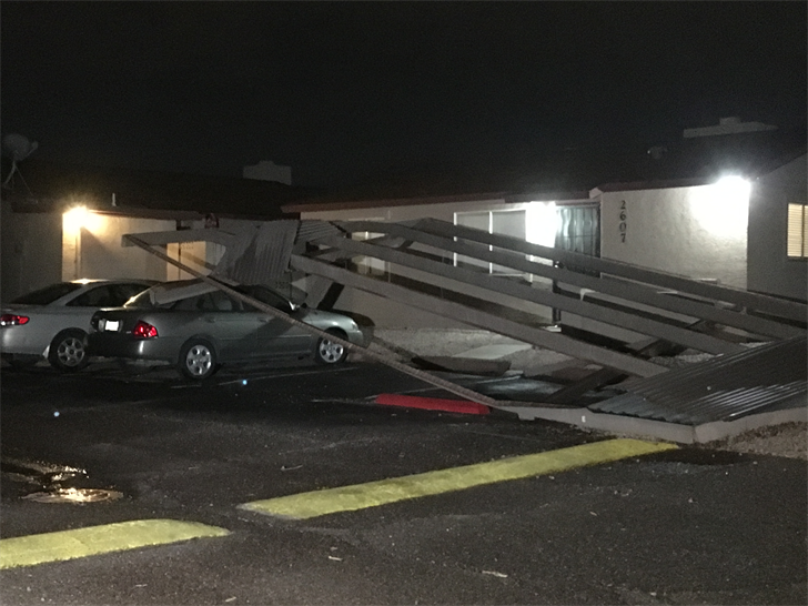 Damage in Tempe. (Source: 3TV/CBS 5)