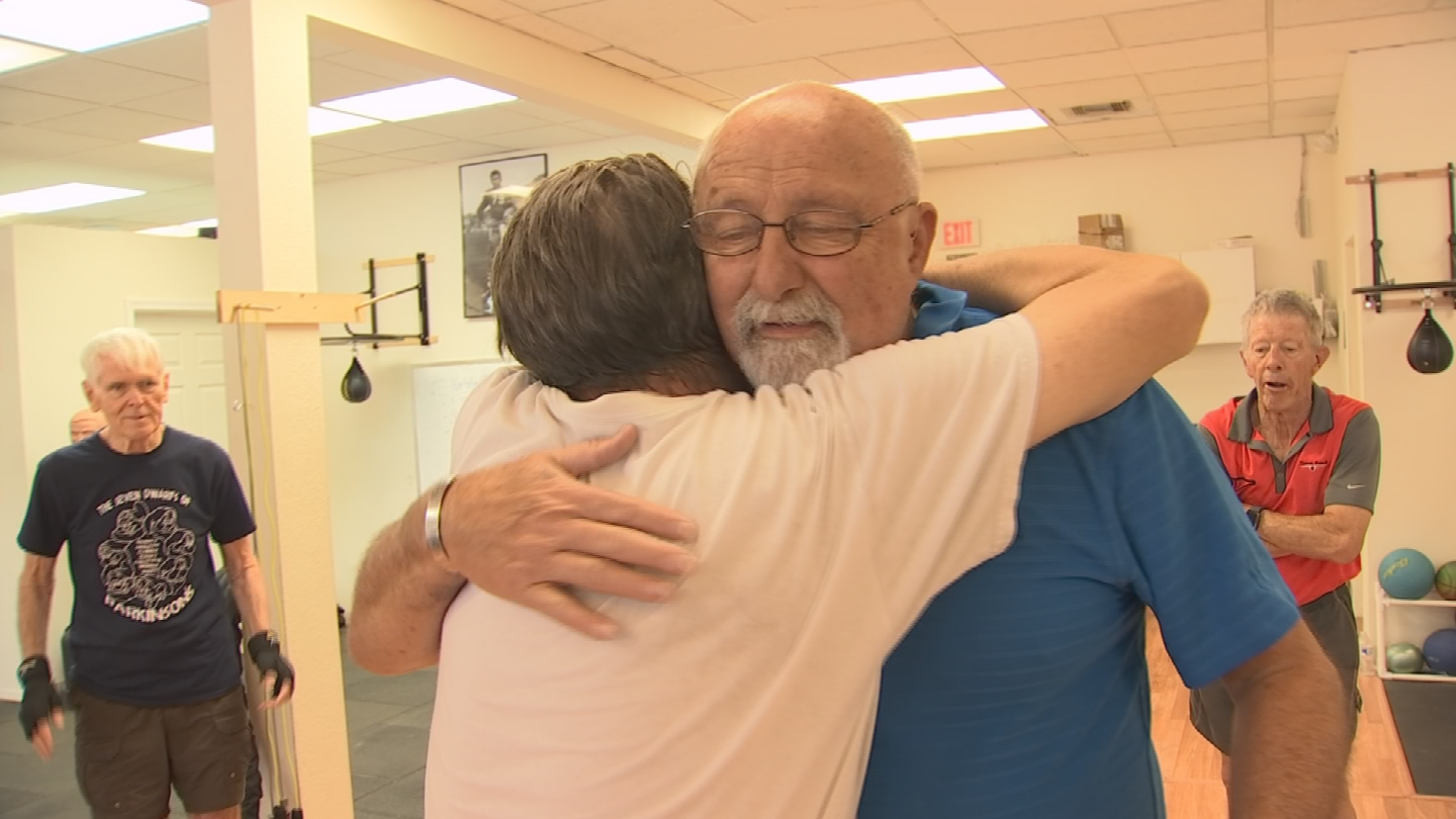 Scott Stevenson is convinced Rock Steady saved his life, so he reached out to CBS 5 to Pay it Forward to Brad Stockwell and thank him for all he's done. (Source: CBS 5)