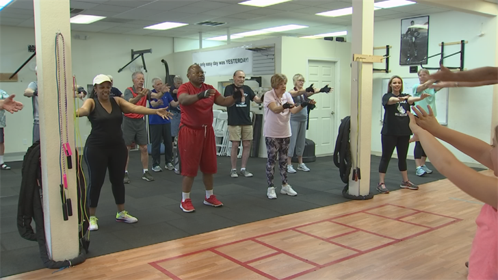 Dozens of patients are benefiting from the unique exercise program that improves their strength, balanceand memory. (Source: CBS 5)