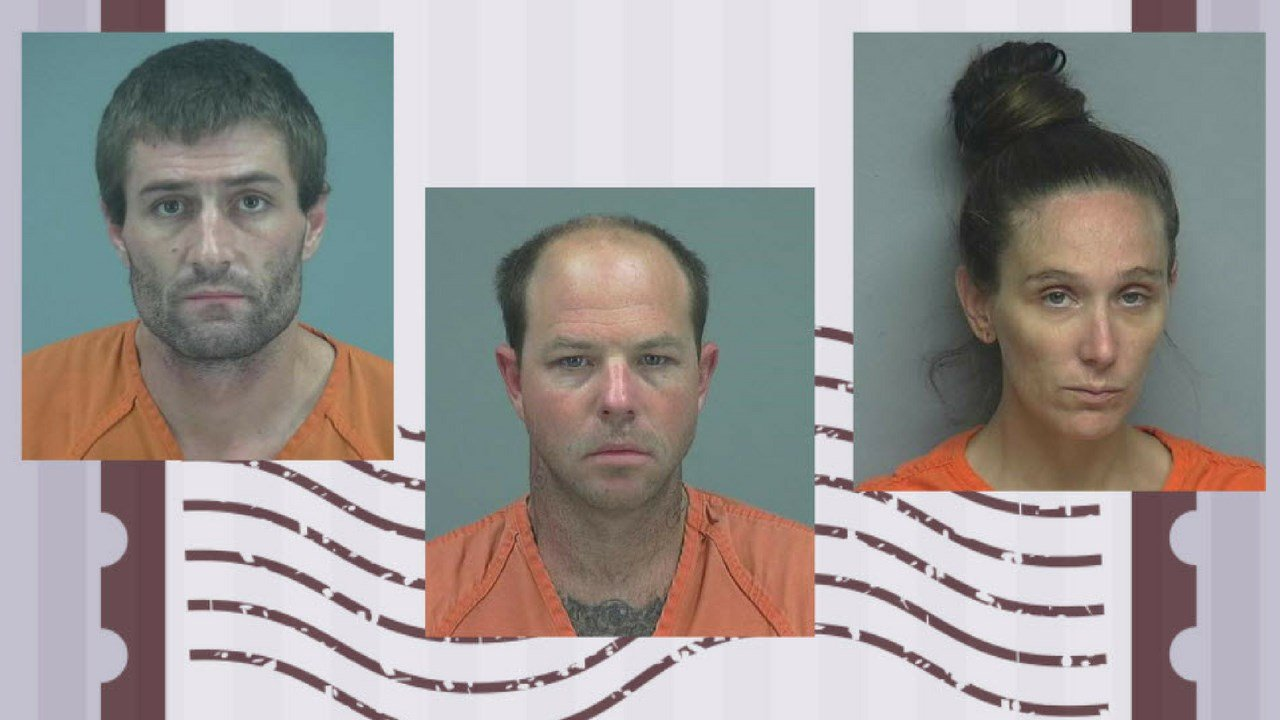 Michael Schraeder, Cory Powers and Britanya Hawks (Source: Pinal County Sheriff's Office)