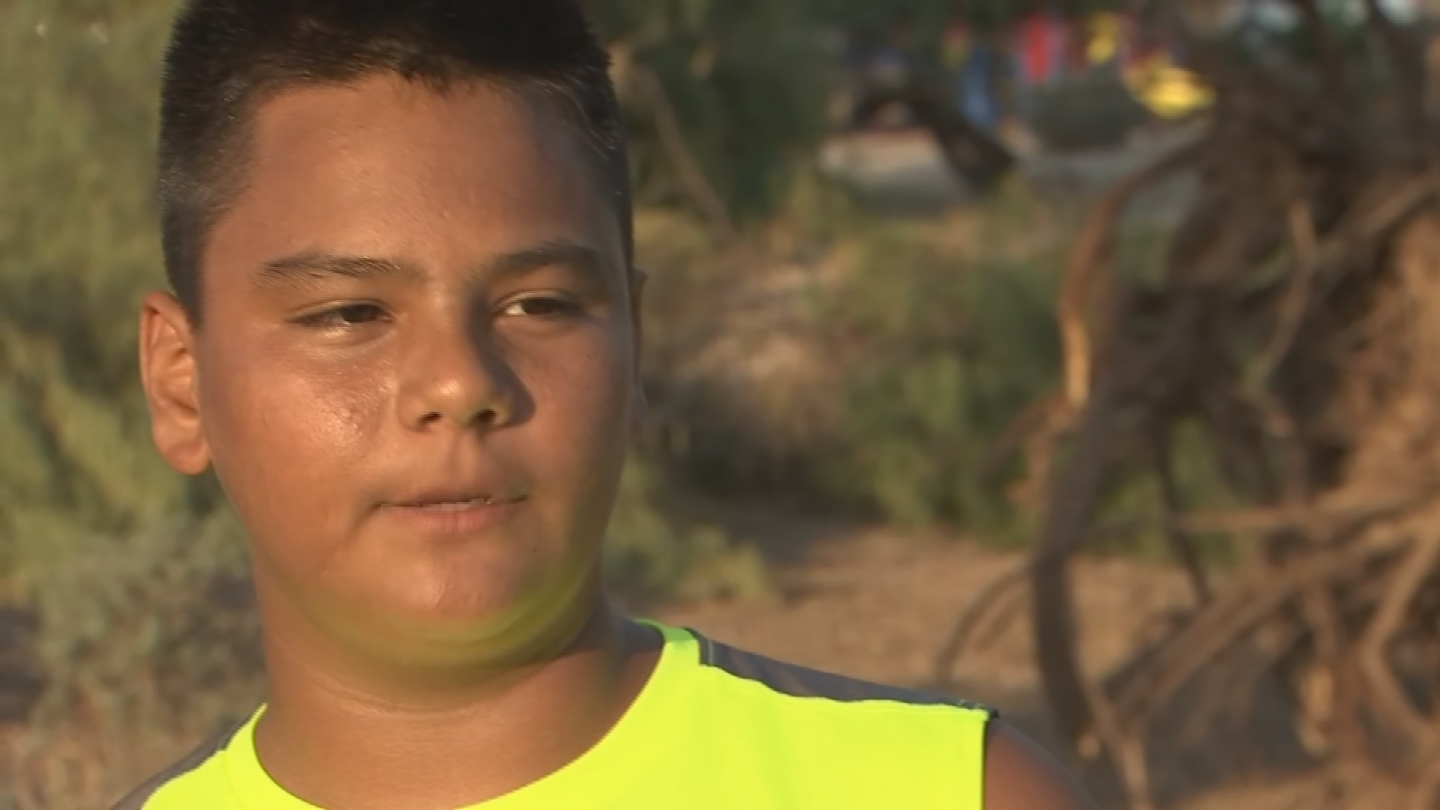 One of the two 13-year-old boys who was struck by lightning last night in El Mirage is out of the hospital. The pain's pretty much gone for Javier Tapia, but the worry and the fear are still there. (Source: 3TV/CBS 5)