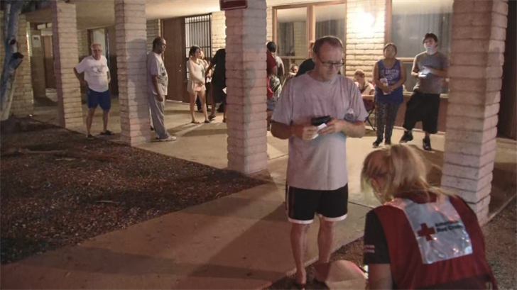 The Red Cross is out with the tenants assisting them with places to stay. (Source: 3TV/CBS 5)