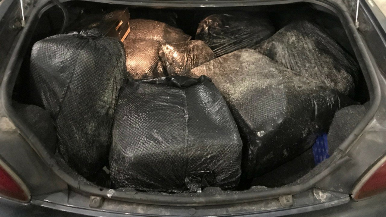 Border agents in Nogales, Arizona have seized nearly 174 pounds (79 kilograms) of marijuana from the trunk of a car. (Source: U.S. Customs and Border Protection)