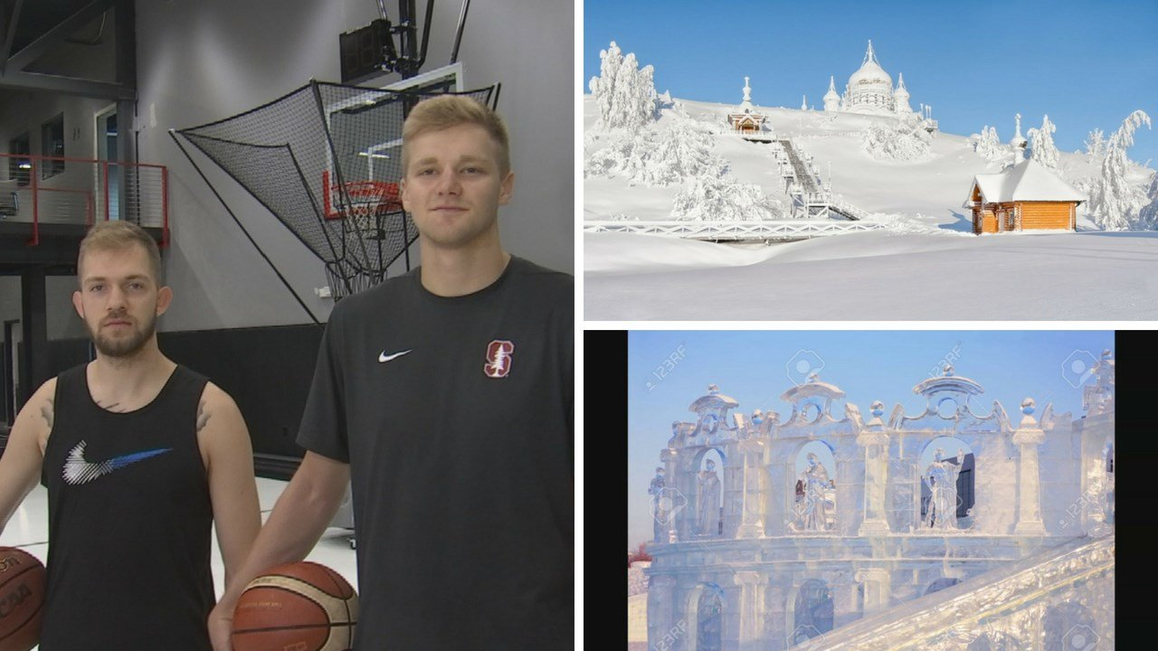 Kodi Justice and Michael Humphrey will play basketball in Russia. (Source: 3TV/CBS 5 News)