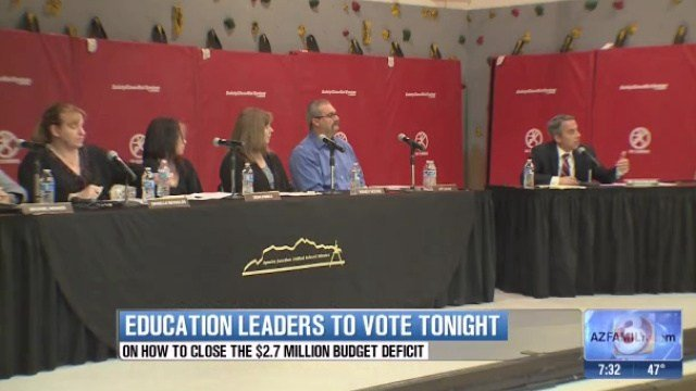 The Apache Junction Unified School District will meet to vote on how to close the $2.7 million budget deficit.