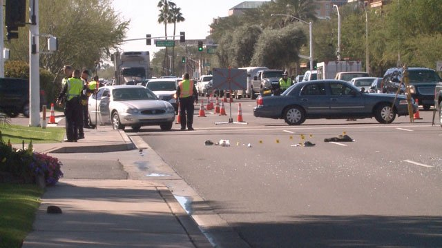 Scottsdale police said a 76-year-old man was crossing Scottsdale Road at Chaparral Road when he was struck by a vehicle. (Source: 3TV)