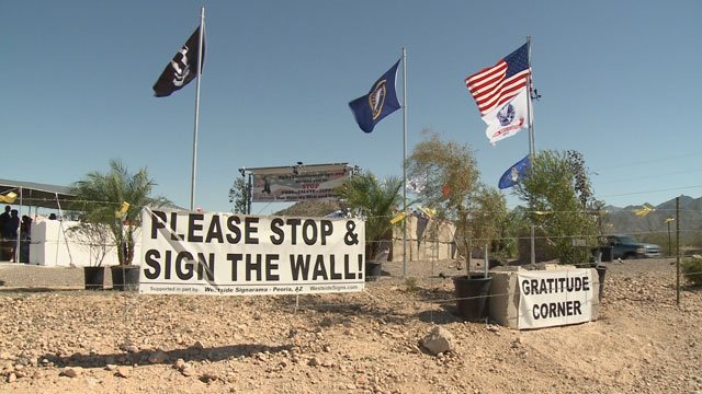 The tribute wall is located at 143rd Avenue and Indian Springs Road in Goodyear. (Source: 3TV)