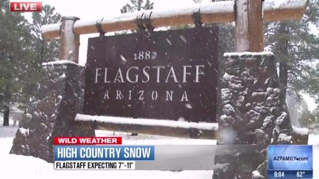 Snow in Flagstaff on Feb. 23, 2015