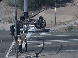 Three people were injured in two-vehicle crash at Loop 303 and Greenway Road. By Jennifer Thomas
