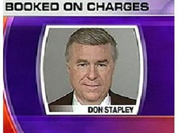 Don Stapley booked on charges. By Natalie Rivers